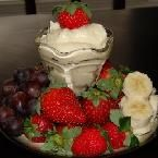 Stupid Good Fruit Dip- 1 pt. WW  32 oz. fat free vanilla yogurt  2 packages fat free/sugar free instant pudding (cheesecake)