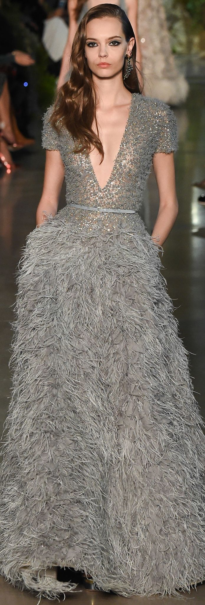 Mina Cvetkovic at Elie Saab Couture Spring 2015