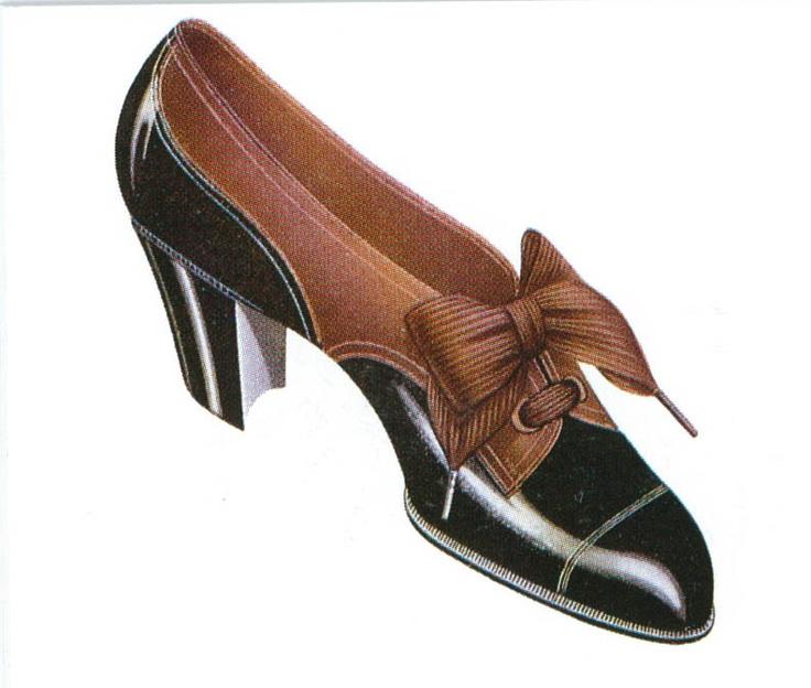 Gravure chaussure André - 1900