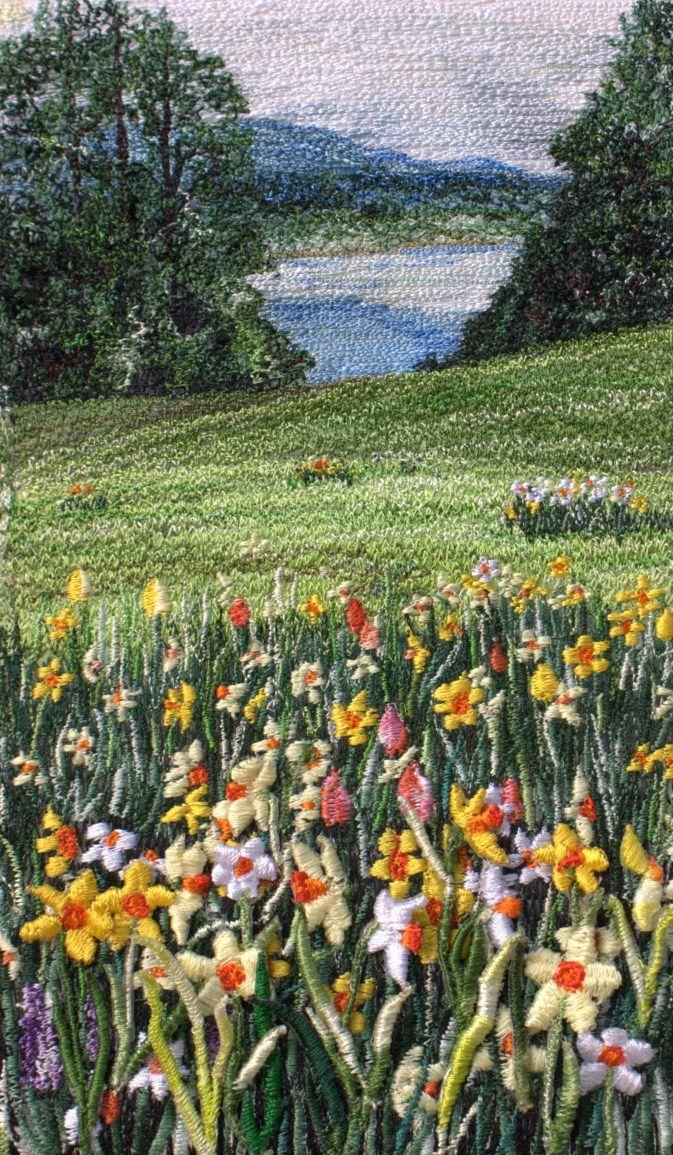Thread Painting Artists   Thread Painting Artist ~ a good way to study impressionism and fiber arts