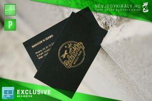 Exclusive celebrity névjegykártya arany prégeléssel kreatív papíron