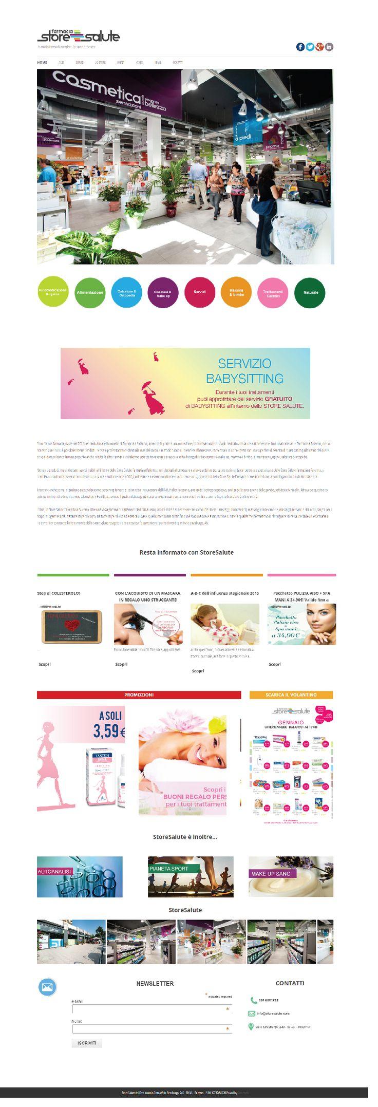 Sito #web realizzato con #Wordpress per Store Salute Farmacia