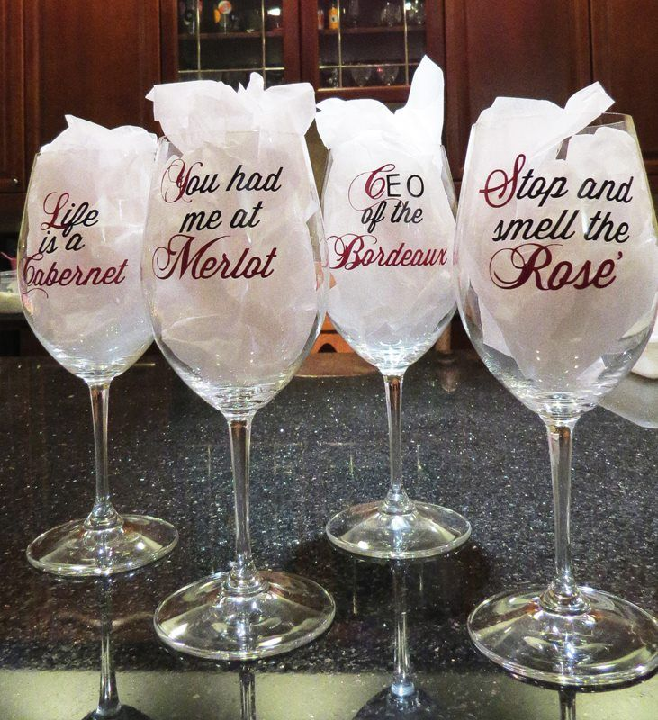wine glass sayings Silhouette SVG tips, tricks and