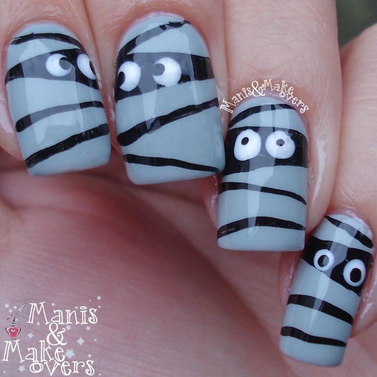 Mummy nail-art door Manisandmakeovers