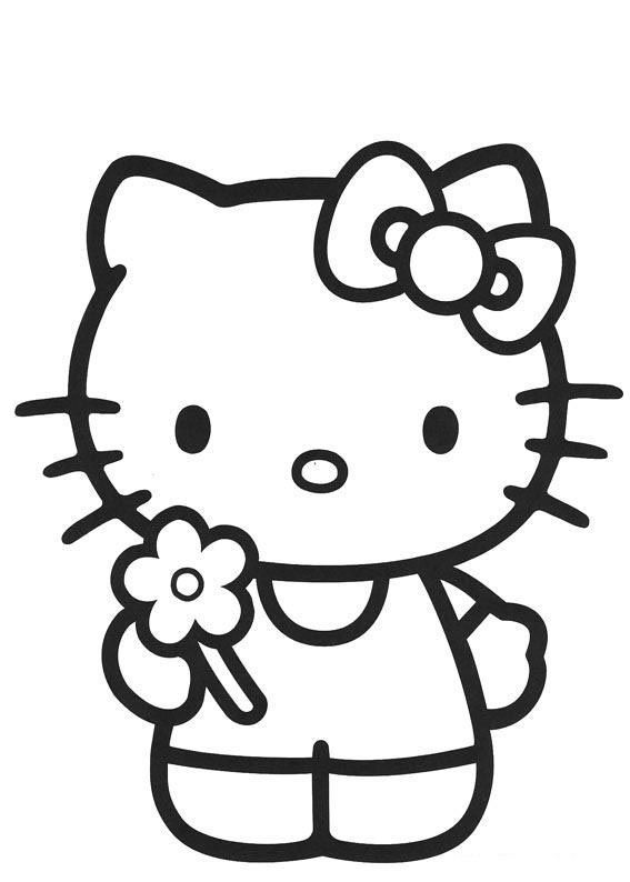 hello kitty coloring page - Coloring Pages For 5 Year Olds