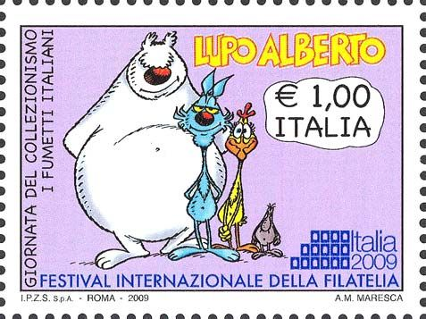 Italia 2009 - giornata del collezionismo - I fumetti italiani - Lupo Alberto