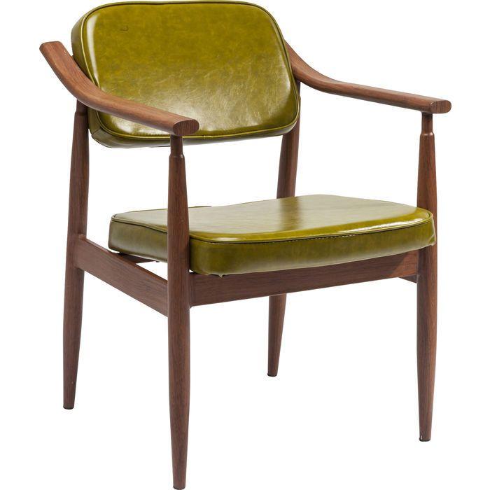 Chair with Armrest Karla Green - KARE Design