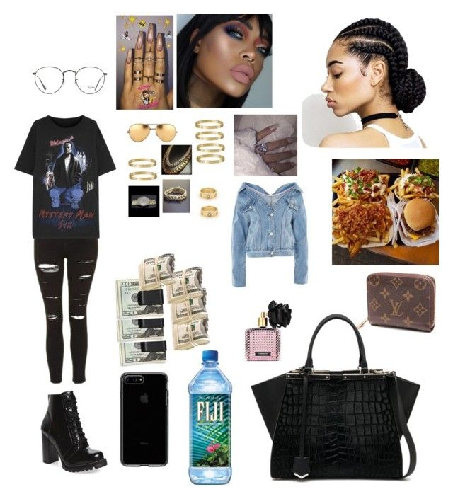 """""""Untitled #283"""" by faith-mula on Polyvore featuring Topshop, MM6 Maison Margiela, Jeffrey Campbell, Sabi, Ray-Ban, Michael Williams, Louis Vuitton, Fendi and Victoria's Secret"""