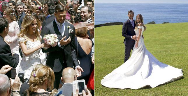L'attaccante della Juventus,Fernando Llorente,si è unito in matrimonio con la fidanzata Maria.Ecco alcune immagini della coppia,scattate in Spagna.Vi piace l'abito della sposa? #wedding #weddingplanner #bride #bridal #matrimonio #matrimoniopartystyle