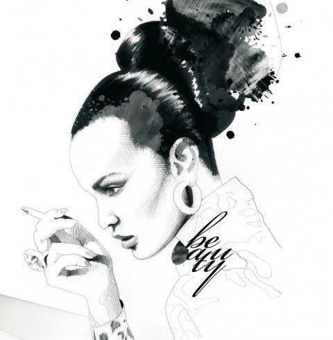 Illustration - David Despau - The Mushroom Company - woman