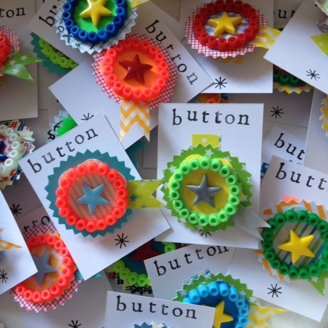 Hamma bead buttons :-)  Gloucestershire Resource Centre http://www.grcltd.org/scrapstore/