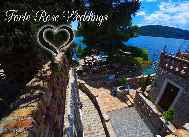 """Say """"YES"""" in most romantic fortess in Montenegro. Make your special day really SPECIAL! Kaži """"DA"""" u najromantičnijoj tvrđavi Crne Gore. Neka tvoj najljepši dan bude stvarno NAJLJEPŠI! www.forterose.me #lusticabay #lustica #kotorbay #kotor #hercegnovi #tivat #portomontenegro #mamula #montenegro #beach #sea #mediterranean #adriatic #hotel #resort #wedding #rooms #ForteRose"""