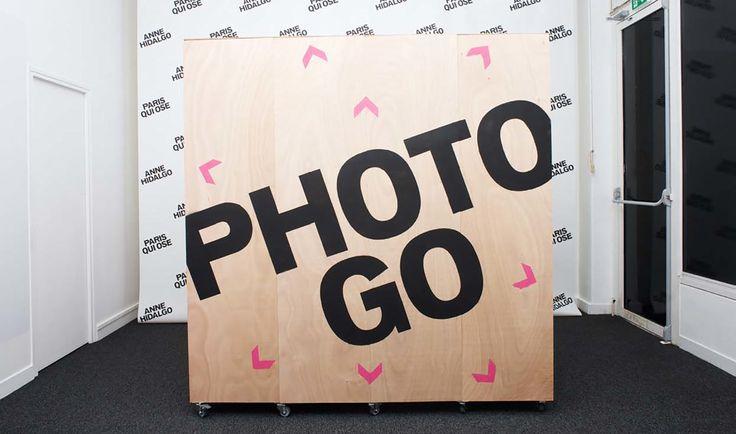 Local de campagne - Premices and co. Conception Du local et de l'identité de campagne en collaboration avec H5 pour l'équipe d'Anne Hidalgo pour les élections municipales parisiennes 2014. #paris #project #design #spacedesign #furniture #architecture #photo #photomaton #graphic