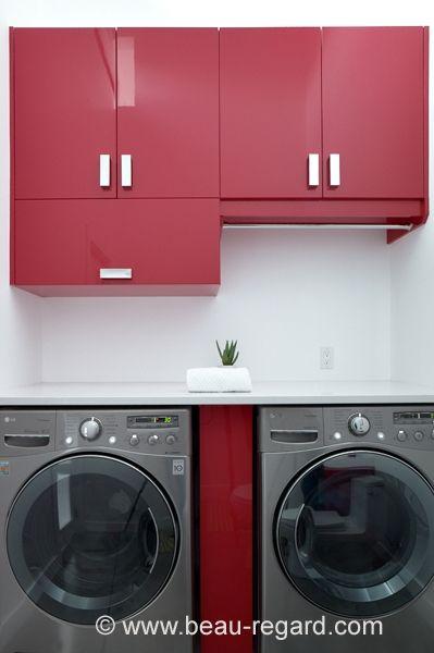 Armoire de rangement thermoplastique, aménagement salle de lavage