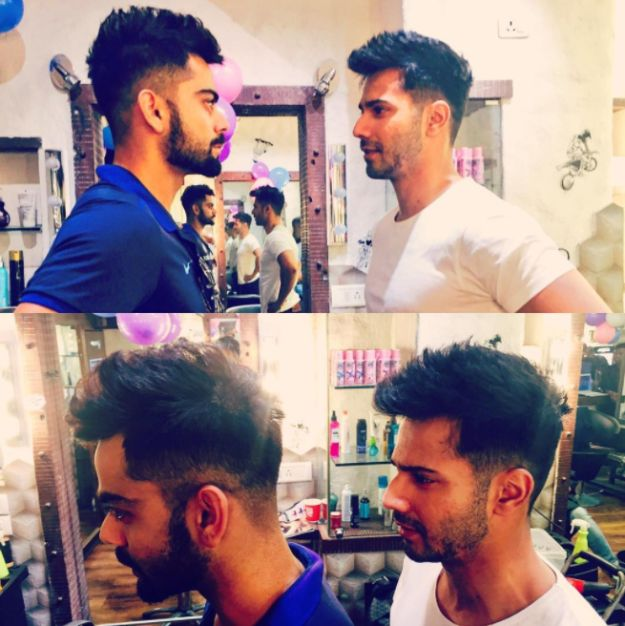 So Gather Around As I Tell You About How Utterly Adorable These Bros Were Being Recently When They Went And Got The Same Haircut Varun Dhawan Virat Kohli Hairstyle Virat Kohli