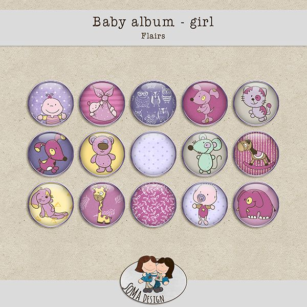 SoMa Design: Baby album - Girl - Flairs