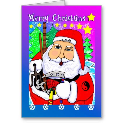 7 best holiday martial arts greeting cards images on pinterest merry christmas martial arts santa greeting card m4hsunfo