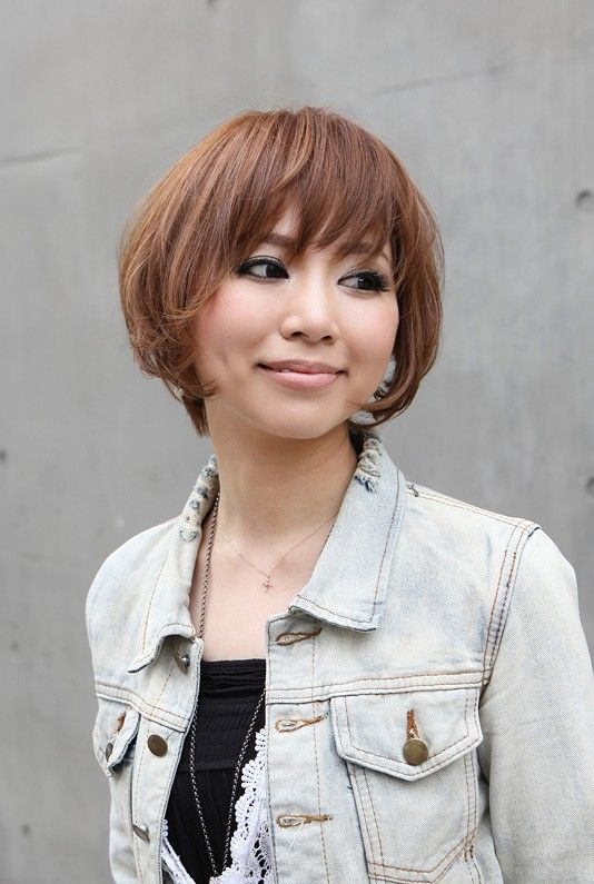 Trendy Short Copper Haircut from Japan – Stacked Short Angled Bob | Hairstyles Weekly, I really like this! It's cute. And I love the bangs