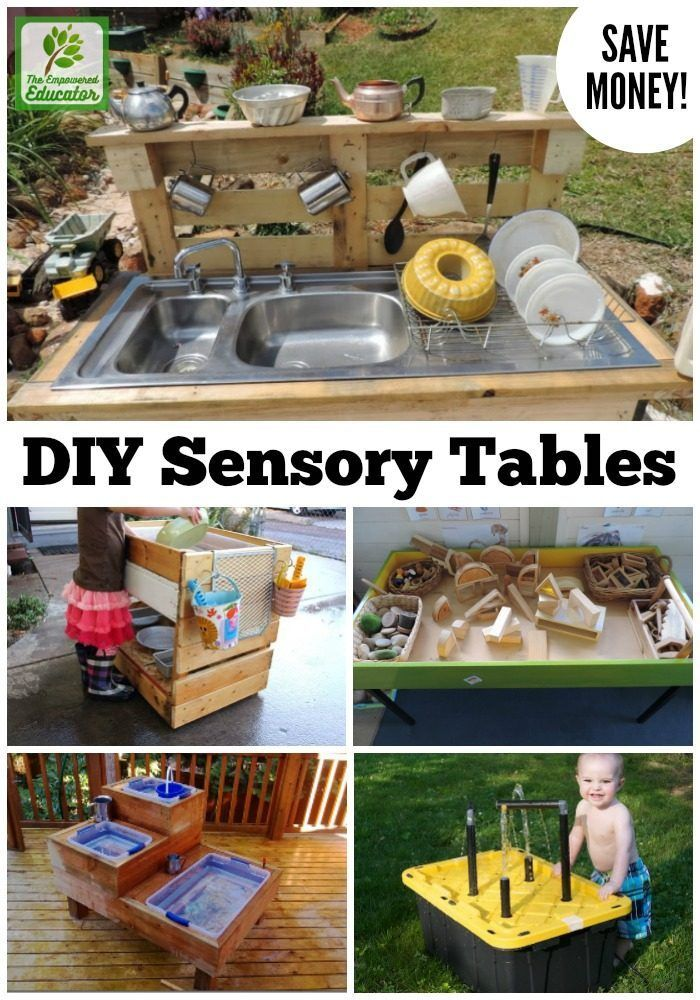Save money and create your own sensory table for water and sand play with these…
