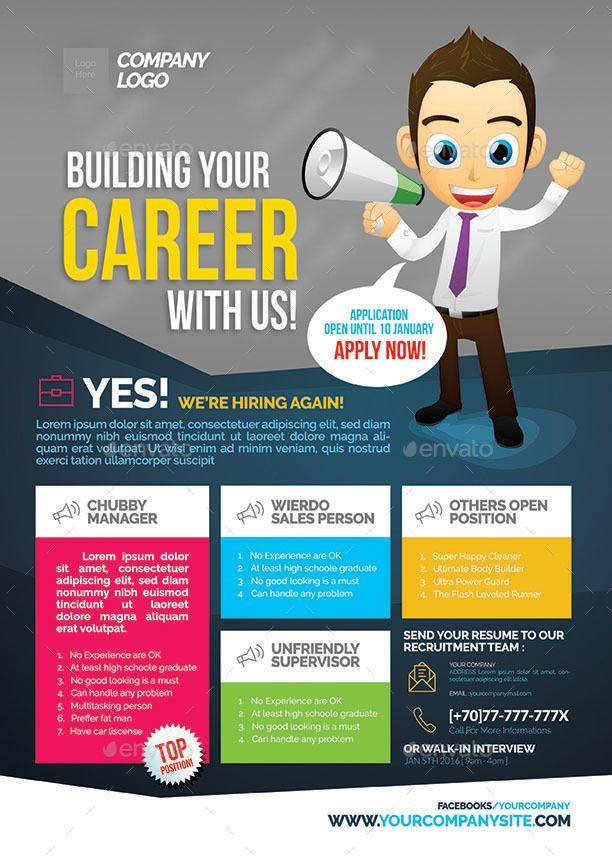 job vacancy flyer in 2019