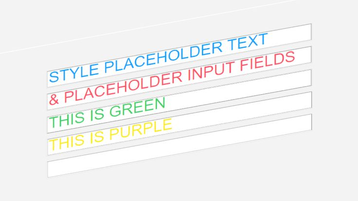 Controlling an HTML Input Field's Placeholder Color Using CSS