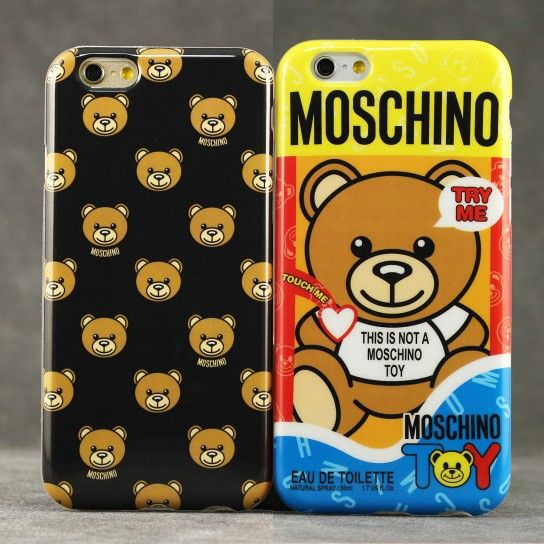 are you ready to bear esclusive moschino case fw15 capsule collection case for iphone 6 plus. Black Bedroom Furniture Sets. Home Design Ideas