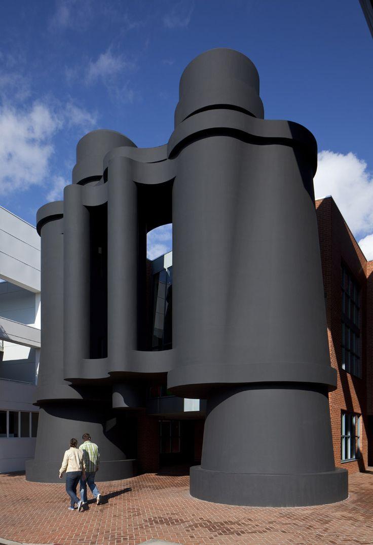 El Edificio de Los binoculares de Los ngeles, California. The Binoculars building in Los Angeles, California