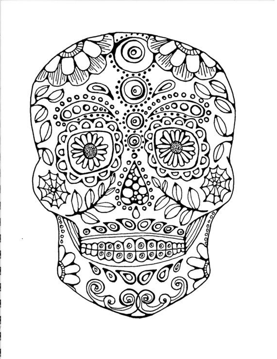 Adult Coloring Page Original Hand Drawn Art In Black And