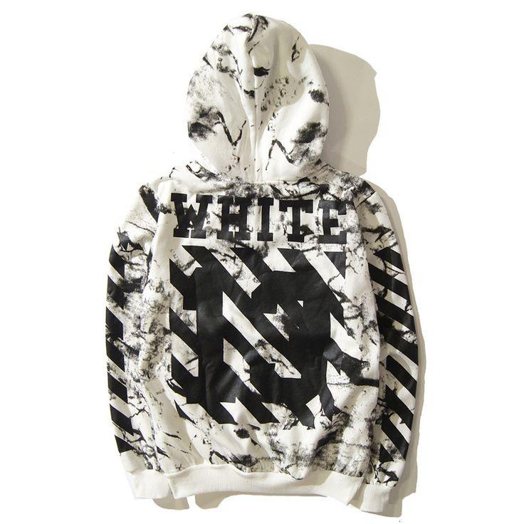 Off White Hoodies Men Sweatshirt Hip Hop Tracksuit Autumn Streetwear Skateboard Fleece 2017 Fashion kanye West ZOOTOP BEAR