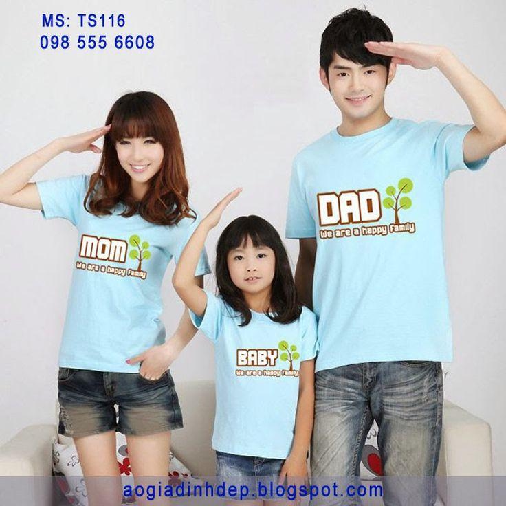 Áo gia đình đẹp mẫu TS116