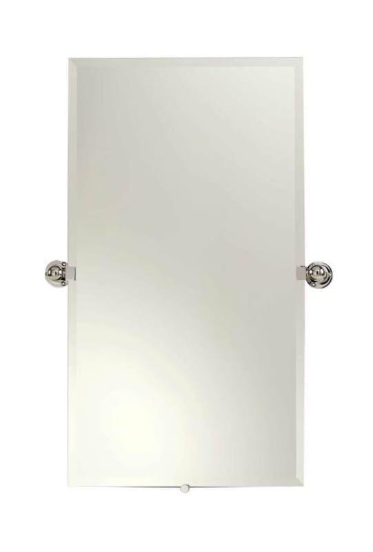 "Ginger 0142N City 212 36"" x 20"" Rectangular Beveled Frameless Mirror Polished Chrome Home Decor Mirrors Wall"