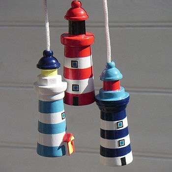 I love these cute little light pulls! Perfect for a nautical/seaside themed bathroom. From notonthehighstreet.com