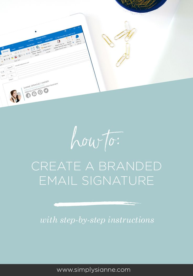 how to make signature on outlook mail.com