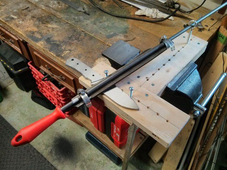 Image Result For Knife Bevel Filing Jigs Knife Making Knife Making Tools Knife Sharpening