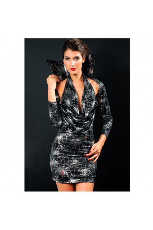Маскарадный костюм «Дама Вамп» whatsap instagram @clubdress артикул - Артикул: A2163  апильное платье отлично очерчивает силуэт. Костюм незаменим для вечеринки «Хеллоуин» или новогоднего маскарада.В комплект входит:- Платье- Болеро с воротником подробнее ->http://26.club-dress.ru/maskaradnye-i-igrovye-kostyumy34/hellouin48/maskaradnyy-kostyum-dama-vamp153.html