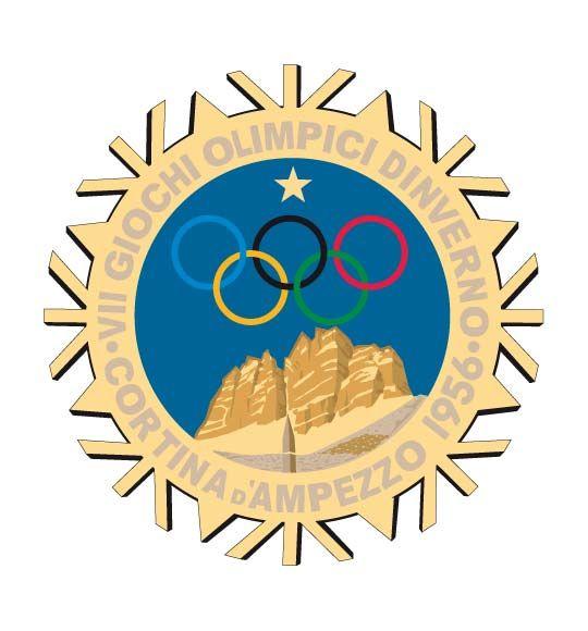Olympic logo // Cortina-d-ampezzo 1956 Winter Olympics
