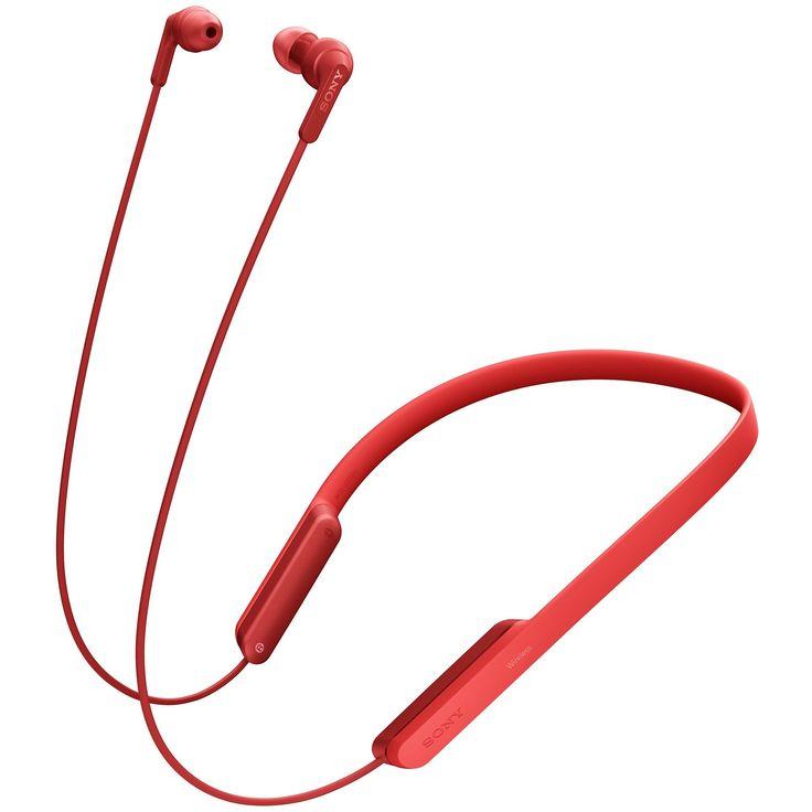 Sony MDRXB70BT EXTRA BASS fülbe helyezhető fejhallgató mikrofonnal, Bluetooth, NFC, Piros