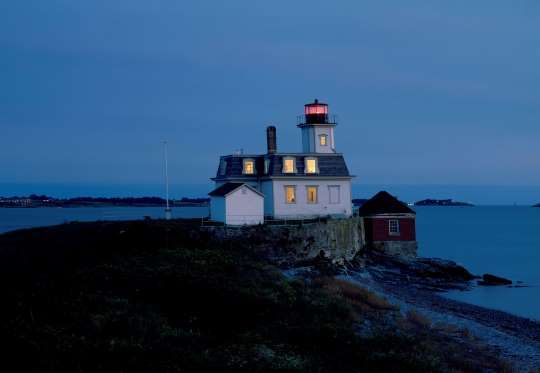 Rose Island Lighthouse, Newport, Rhode Island - 2nd Level: Lighthouse Keepers Apt.   Sweet Dreams.  =)