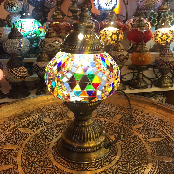 SMALL MOSAIC TABLE LAMP