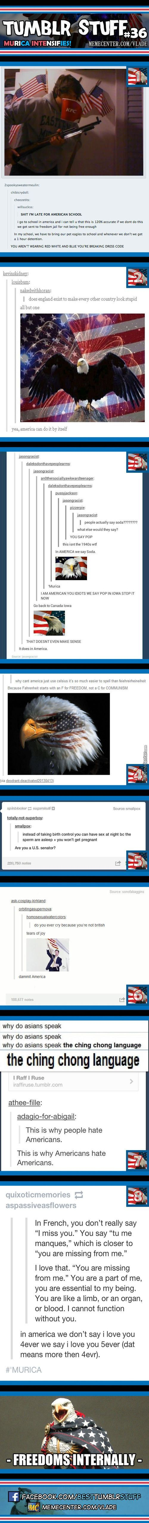 Sometimes i think im lucky to be born in america but I hate being american SOOOO bad!!...WHY WASN'T I BORN IN EUROPE!