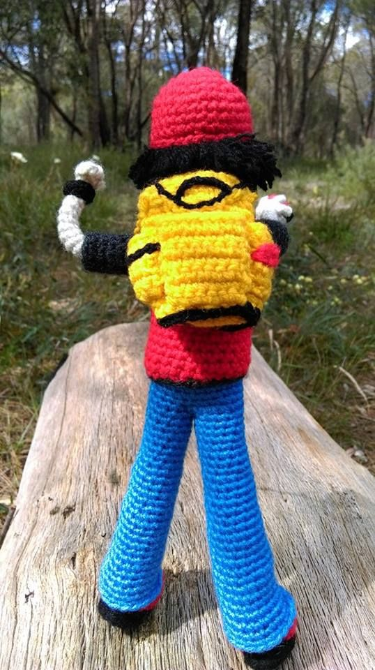 'Pokémon Trainer'...back.   No pattern for this one - I made him up as I went along.