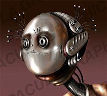 miss robot - vector illustration