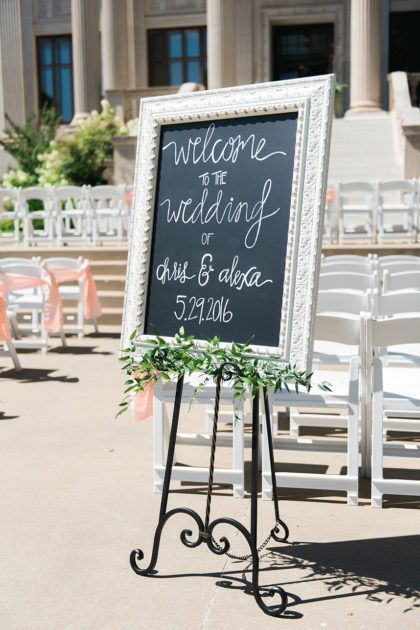 Simple Organic Sign | Photography: Kristina Gaines Photography | Florist: Emerson Events | Decor/Rentals: Ruby's Vintage Rentals/Marianne's Rentals Special Event Solutions | Venue: Gaylord Pickens Oklahoma Heritage Museum | #weddings #bridesofok #thisandthat