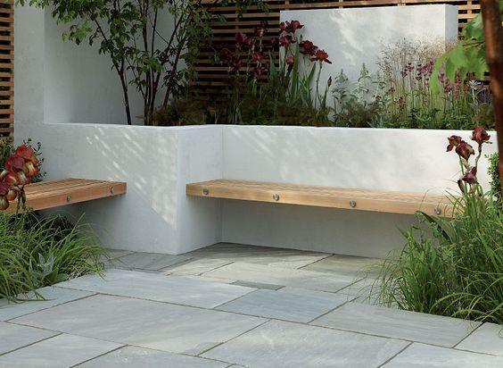 Sunken Patio Integrated Seating Google Search Concrete