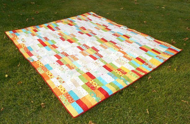 In-n-Out Jelly Roll Quilt | FaveQuilts.com