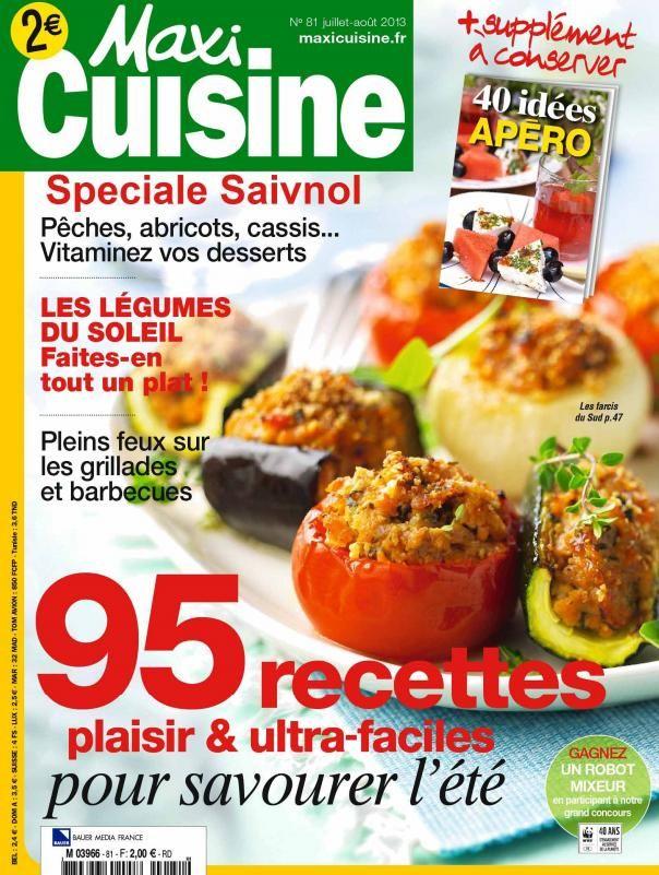 Maxi Cuisine N°81 JuilletAoût 2013 French PDF 96