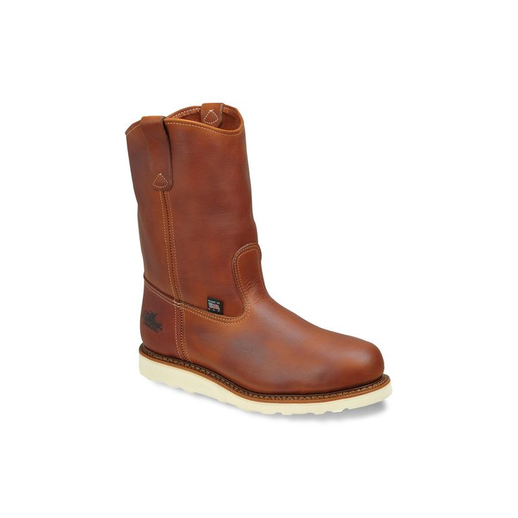 Thorogood American Heritage Wellington Men's Safety-Toe Work Boots, Size: 11.5 Med D, Brown, Durable