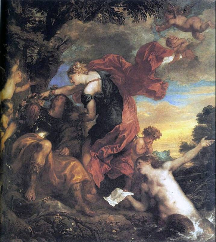 Rinaldo a Armida - Anthonis van Dyck