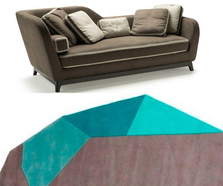 Sofa and sofa bed Jeremie, design Eric Berthes.