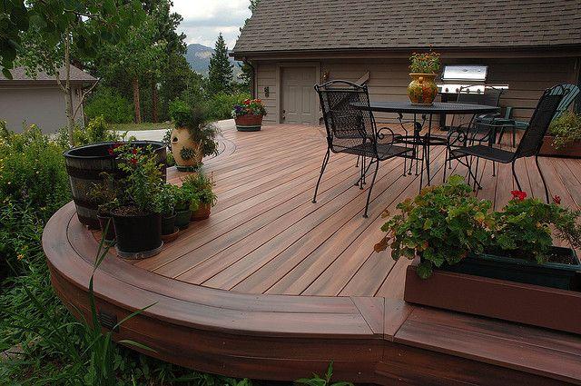 Plastic-wooden terrace (fiberon)